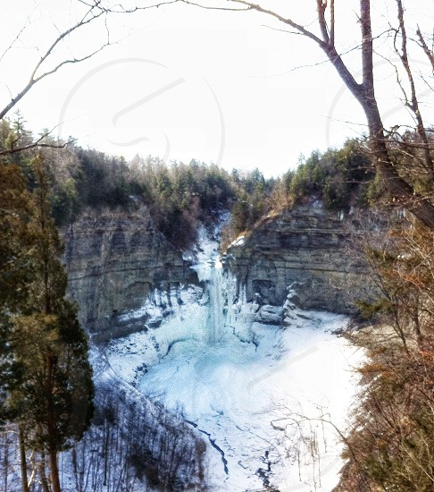 frosted waterfalls photo