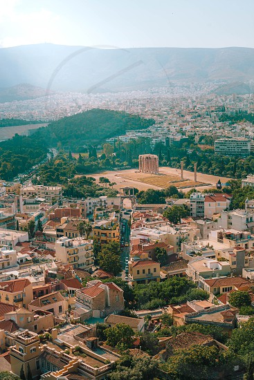 Rooftops of Athens from  the Acropolis hill photo