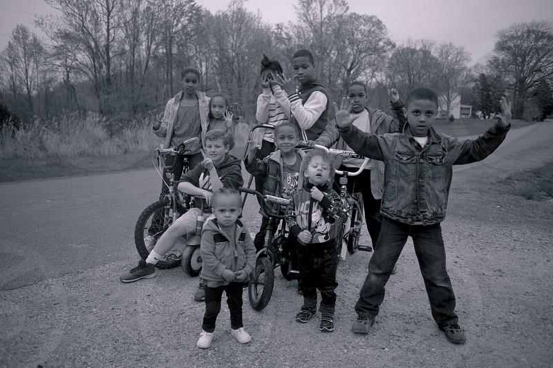 Kids on bikes in the country. Lovingston VA photo