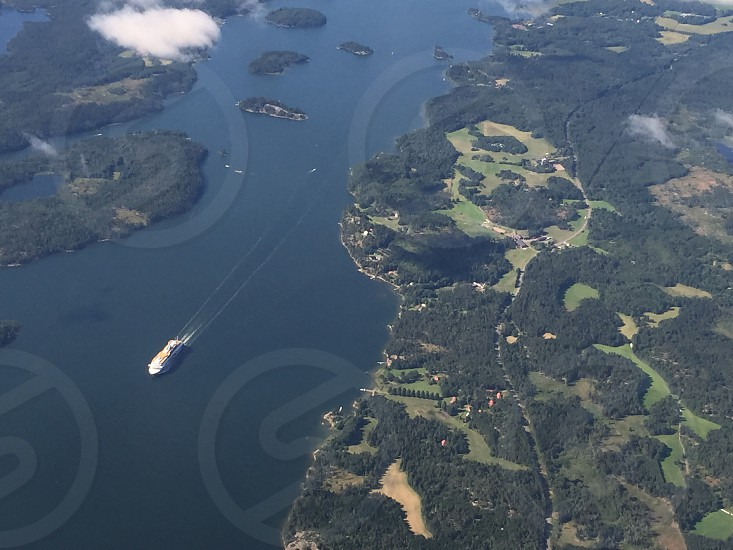 Sweden from above photo