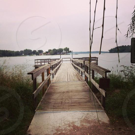 Dock at the lake photo