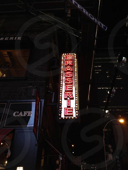 NYC neon sign brasserie  photo