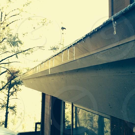Nature ice snow cabin photo