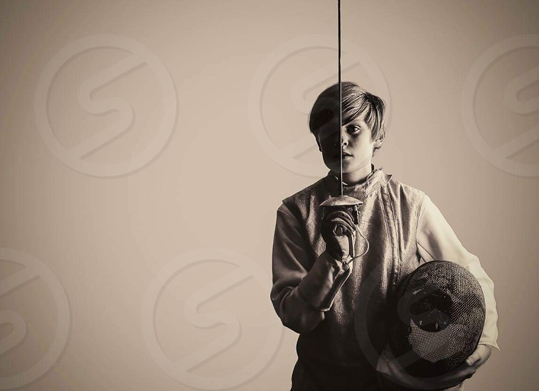 portrait photography: young fencer photo