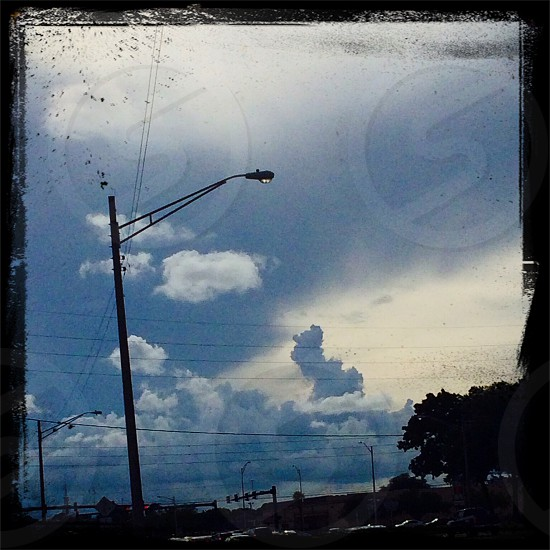 The clouds make me think of ying and yang  photo