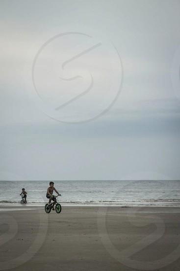 black framed bmx bike photo