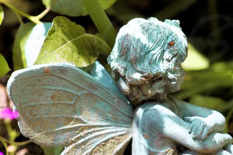 The little fairy in the garden garden ornament photo