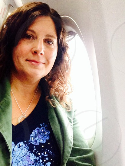 Just me! I am a little tech savvy don't you know? On plane from Providence Rhode Island to Baltimore Maryland recently.  photo
