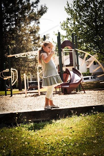 girl on a playground photo
