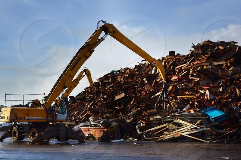 metal recycle centre scrap yard photo