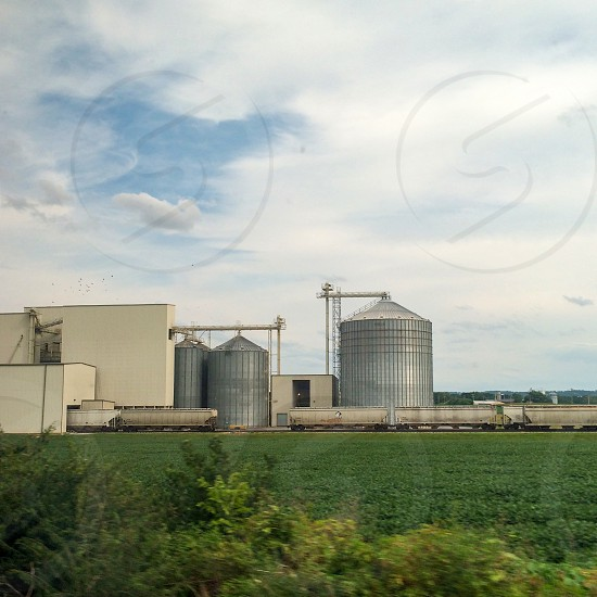 Farm in Lancaster Pennsylvania as seen from a train window.  photo