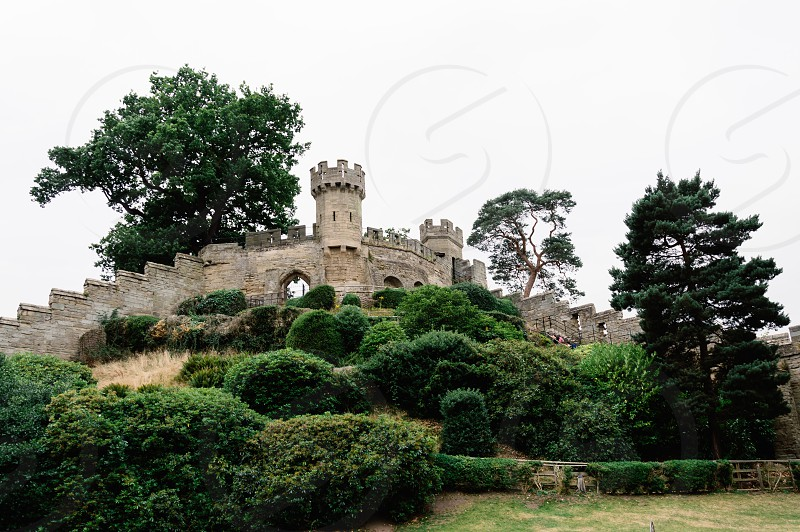 Warwick Castle. It is a medieval castle built in 11th century by William the Conqueror and a major touristic attraction in UK. photo