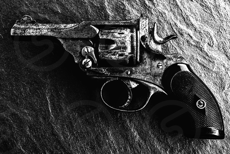 A World War II .38 Webley British officer's revolver. Picture: Jonathan Oberholster photo