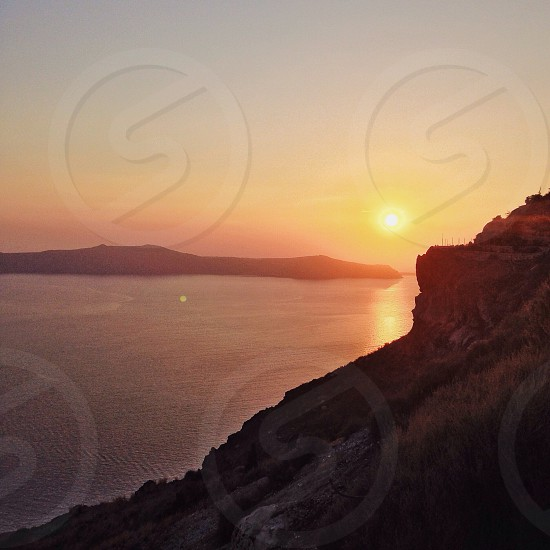 Just felt lucky when I saw this breathtaking sunset in Satorini. photo