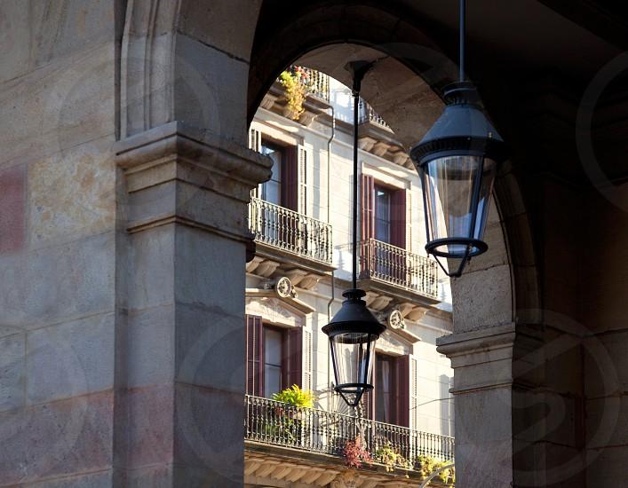 Barcelona Borne barrio arcade in street city details photo