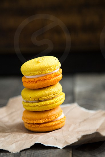 Colorful French Macarons photo