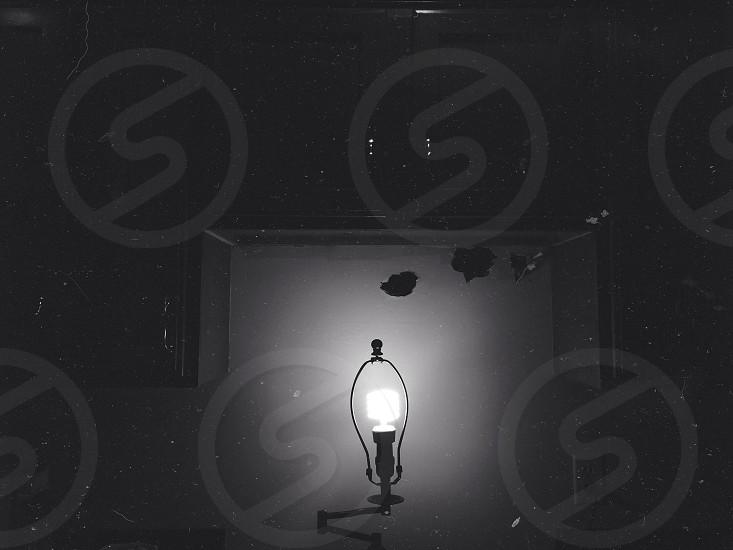 Shadeless adjustable lamp photo