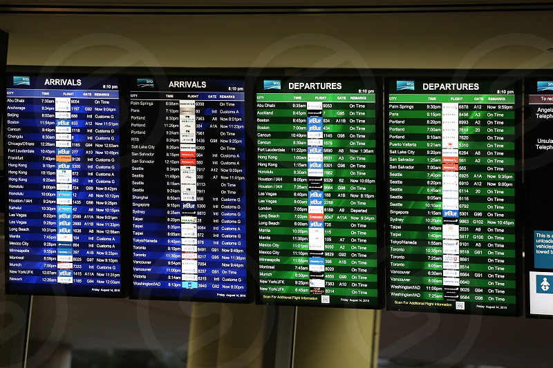 Airport flight board photo