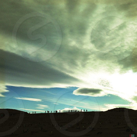 color photo of cloudy sky photo