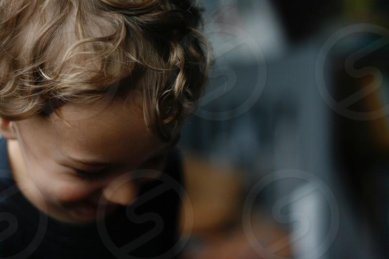 Curls laugh toddler photo