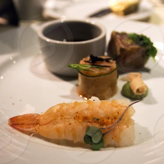 Japanese food plate photo