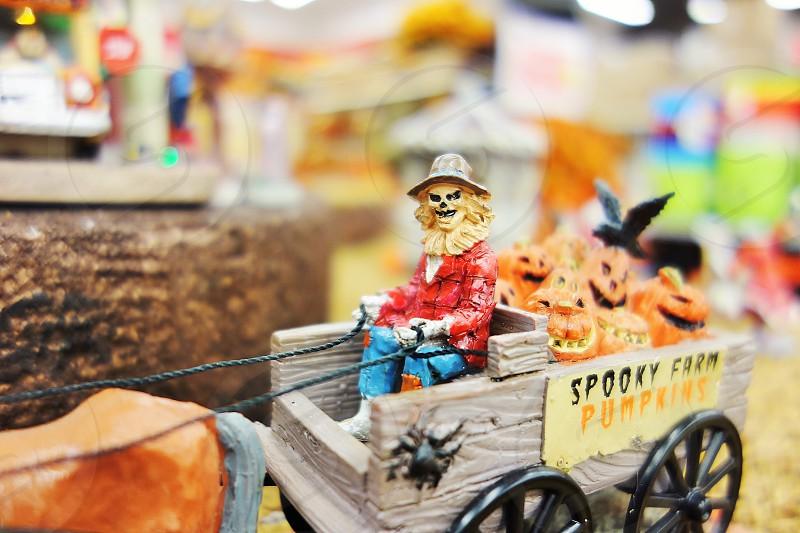 Halloween scary model pumpkin holiday fall photo