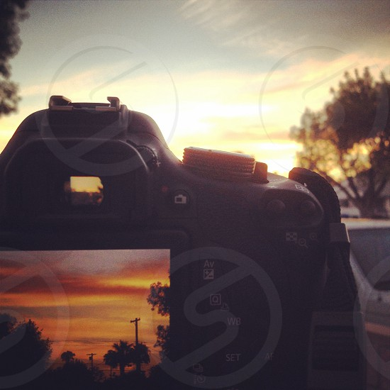 sunset capture in camera photo