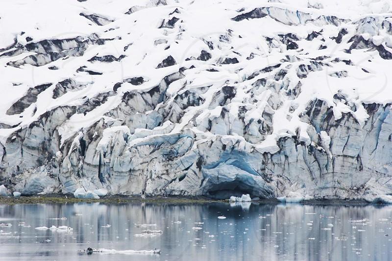 Alaska Glacier Water Cold Snow Winter Nature photo