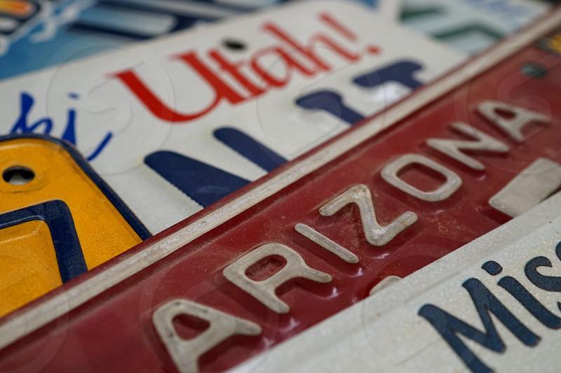 License plates  photo