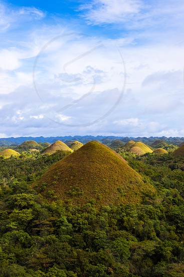 Chocolate Hills on Bohol island Philippines photo