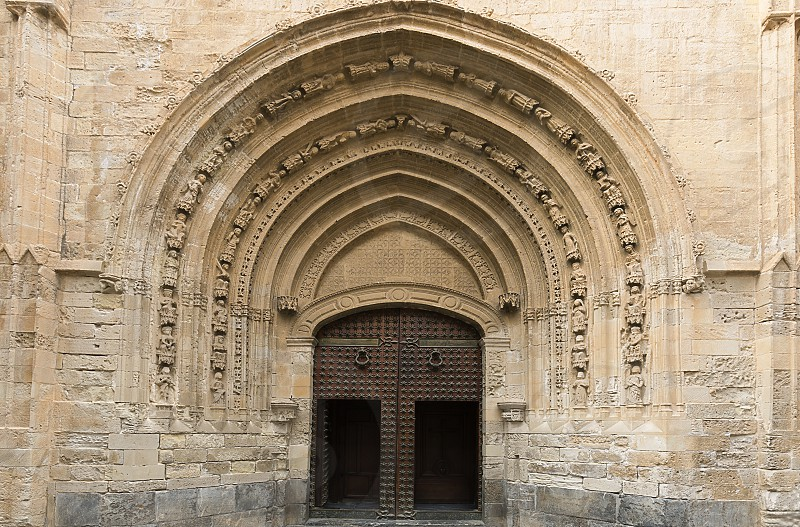 Door of the Cathedral of Orihuela in the provincica of Alicante Spain. photo