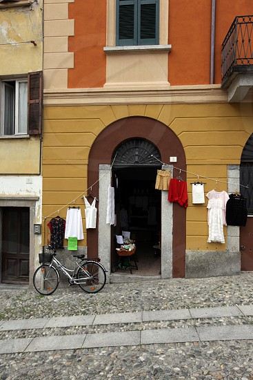The old Town of Cannobio on the Lago maggiore in the Lombardia  in north Italy.  photo