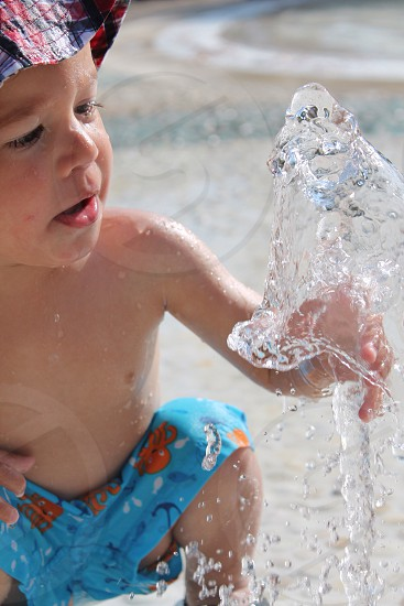 Fascination with water photo