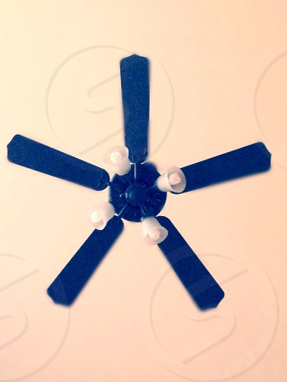 black ceiling fan  photo