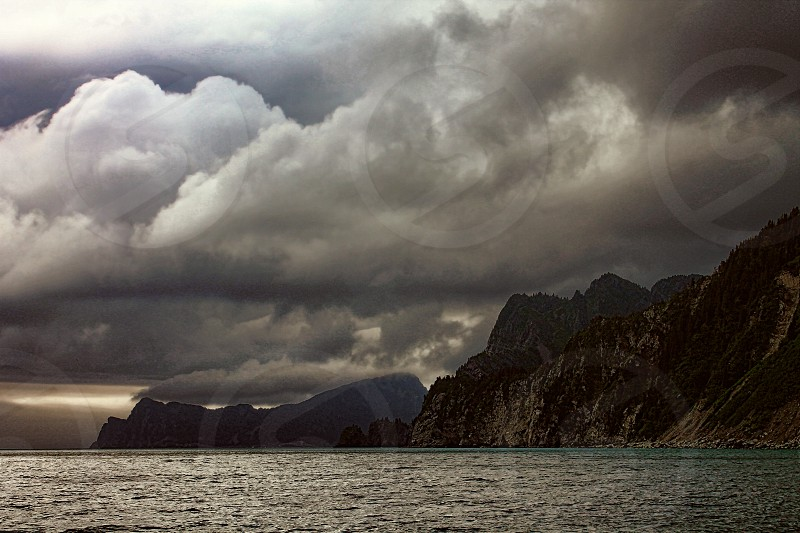 Storm brewing over Resurrection Bay Alaska photo