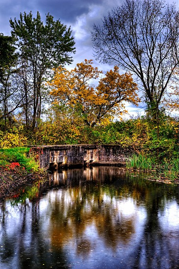 Autumn Colors with reflection on the water photo