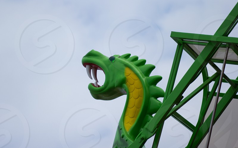 Green dragon ride in the sky photo