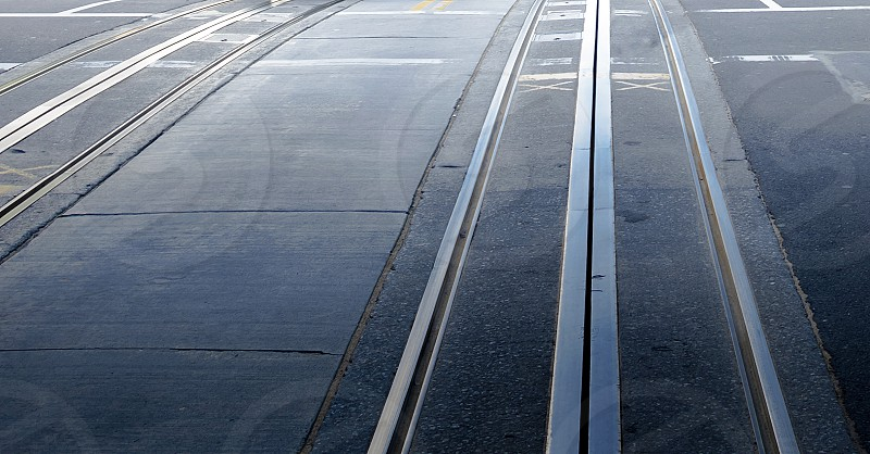 detail of san francisco Street with Cable Car rails photo