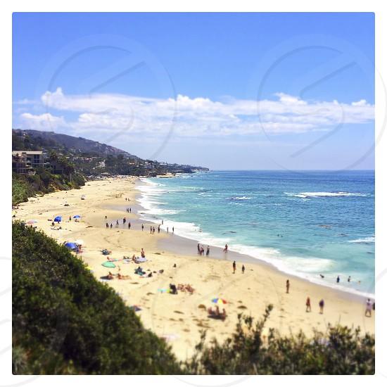 Montage Resort beach Laguna Beach California - tilt & shift photo