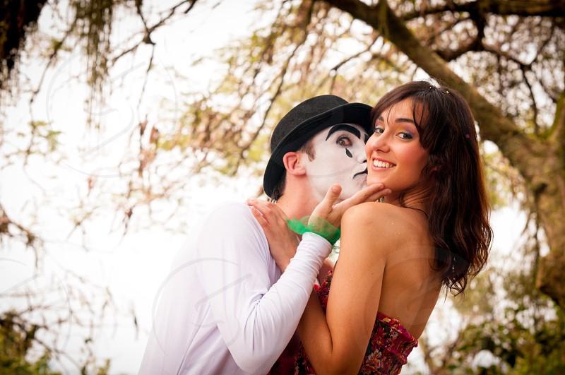 Couple happy kiss photo