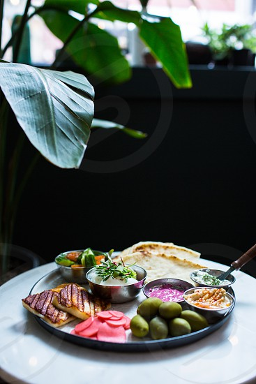 Food shot with plants  photo