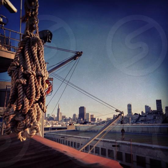 san francisco rope ship california usa cityscape photo