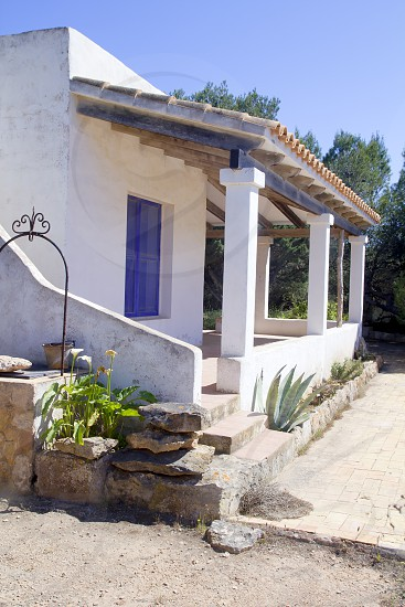 Mediterranean house white architecture mediterranean balearic islands photo