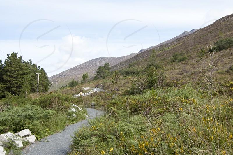 Mourne Mountains Northern Ireland Summer Walking Path stones photo