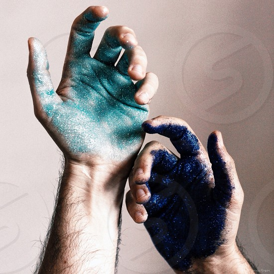 """Space in my hands"" - Glitter photo"