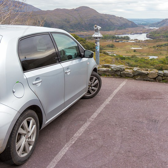 car rental car viewfinder Ireland Ring of Kerry view landscape mountains travel photo