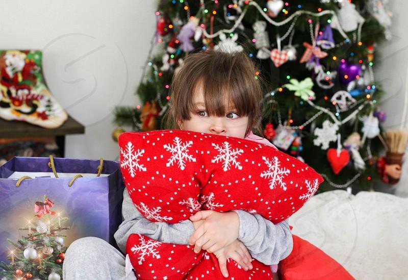 Merry Christmas new year girl  photo