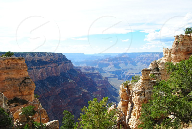 A beautiful landscape scenery provided by mother earth and the Grand Canyon National Park  photo