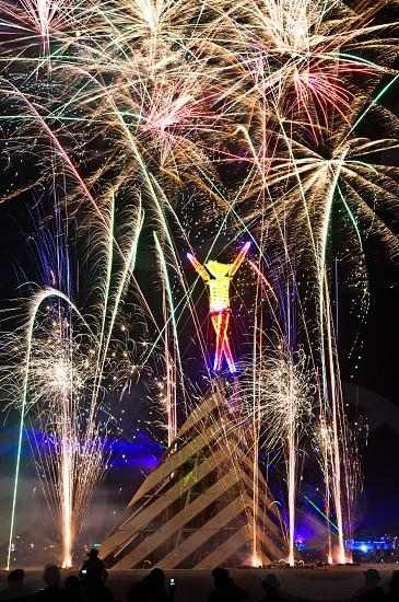 Fireworks at Burning Man photo