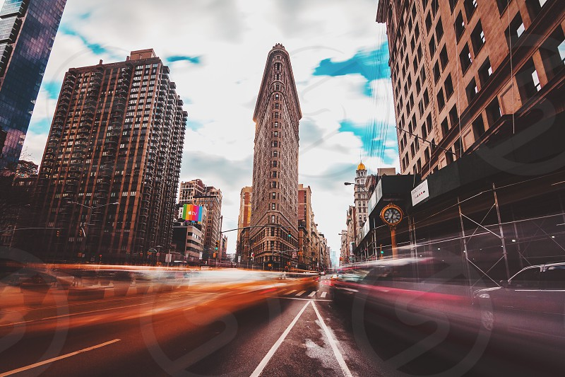 Flatiron new york city long exposure tones photo